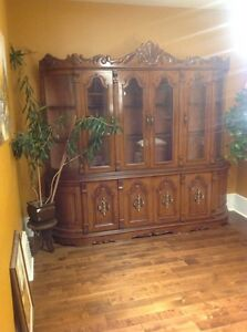 China cabinet with curved front