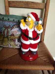 Christmas Homer Simpson and Homer vinyl figure
