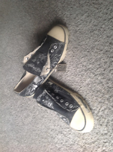 Ed Hardy slip on canvas men's shoes