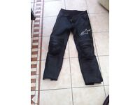 Alpinestars ladies leather bike pants