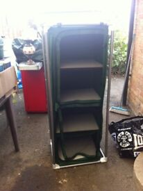 Camping wardrobe unit in green colour