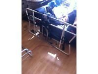 Metal framed electric bed recliner for double bed