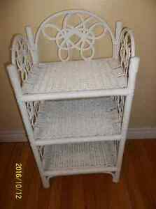TWO WHITE WICKER STANDS St. John's Newfoundland image 5