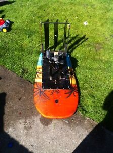 Home made rc nitro fan boat