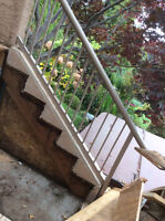 Out door staircase railing