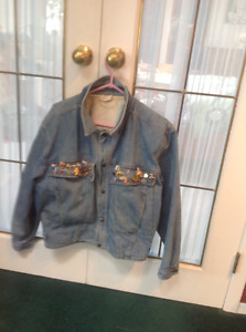 Lined, GUESS, woman's denim jacket