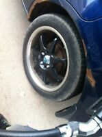 CIVIC RIMS FOR SALE 150$ with 4 decent tires