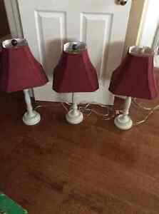 white spindle lamps