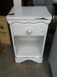 Solid wood nightstand/ side table