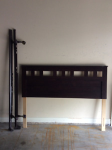 Queen Size Headboard + Metal Bed Frame (Still Available)