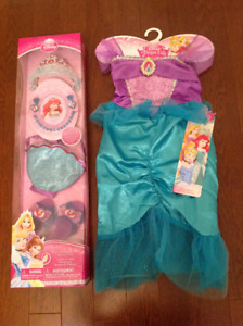 Disney Princess Dress and Complete Royal Accessory Set