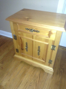 Pair of Pine bed side tables for sale