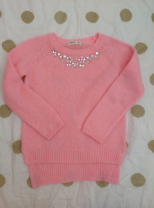 Like new beautiful pink jewelled shirt