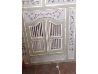 pale green carved Indian Mirror