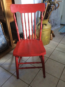 Antique press back chairs - several years o choose from!