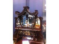 Edwardian Mahogany Rococo mirrored Sideboard