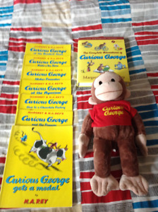 Curious George Books & Stuffed Toy