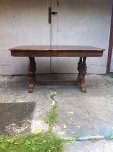 PRICE REDUCEDEarly 1900's antique walnut 9 piece dining room set London Ontario image 5