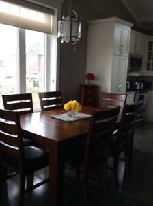 DINING TABLE, 6 CHAIRS and BUFFET