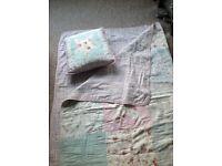 Girls quilt & pillow set! Reversible!