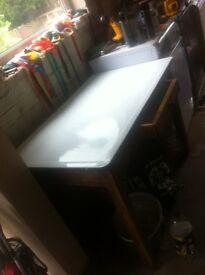 Vintage enamel topped table