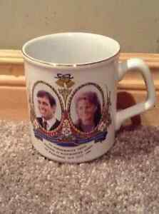 "Prince Andrew and Princess ""Fergie"" royal wedding coffee mug"