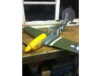 Rc mustang warbird plane