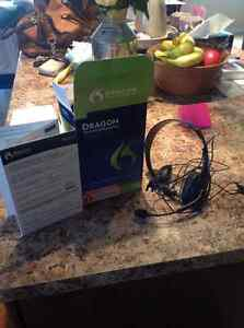 Dragon Prem Edition Speech Recognition Software& Dynex Headset