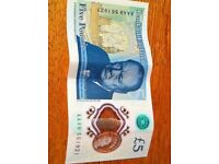 COLLECTABLE FIVE POUND NOTE AA49...