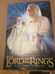 POSTER/PUZZLE - LORD OF THE RINGS THE TWO TOWERS