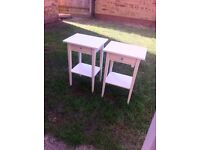 Pair of Cream IKEA Bedside Cabinets.