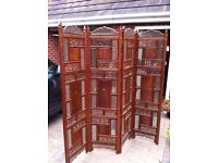 Indian hand carved wooden screen, room divider