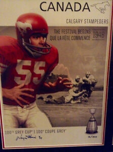 CFL® – CALGARY STAMPEDERS LIMITED EDITION SIGNED PRINT-New inBox Gatineau Ottawa / Gatineau Area image 2