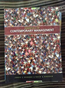 Essentials of contemporary management 3rd edition