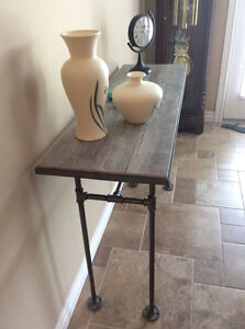 Handcrafted Pipe Console Table