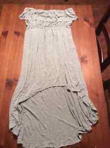 lg grey strapless dress