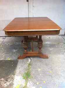 PRICE REDUCEDEarly 1900's antique walnut 9 piece dining room set London Ontario image 3