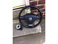Vw golf mk5 GT leather three spoke steering wheel