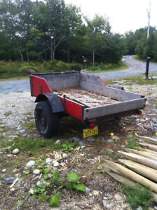 5x7 utility trailer with papers
