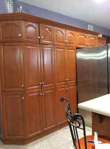 Kitchen cabinets from large kitchen for sale