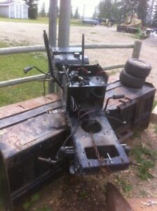 Hydrostatic lawn mower chassis.