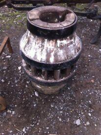 A French oak wheel hub
