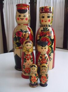 6 'Like New' Collectable Matryoshka Russian Nesting Dolls