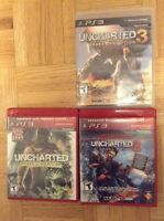 Pack Uncharted PS3 a vendre 1-2-3