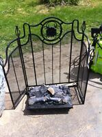 Selling a fire place gate and electric wood