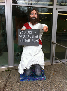 6 foot Jesus art sculpture. Why? because you are awesome..