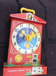 Vintage Fisher Price teaching clock for sale