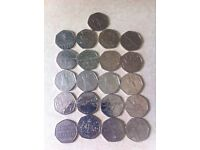 I have a selection of 50 pences open to offers on all can post or deliver at buyers cost all