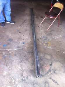 11&1/2  FEET of 4 inch straight stainless pipe