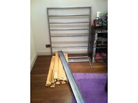 Single metal bed frame (no screws) for free